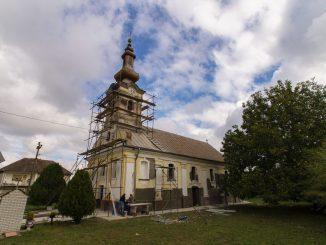 Crkva u Dupljaji radovi