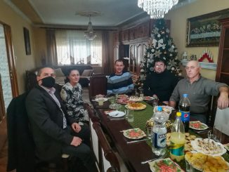 Violeta Simic u poseti porodici Malusev
